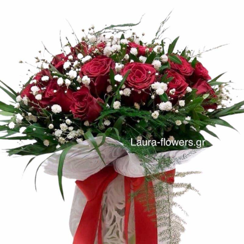 Μπουκέτο με 25 τριαντάφυλλα